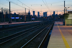 Panorama of Warsaw, Poland Stock Photos
