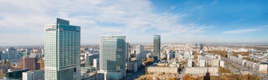 Panorama of Warsaw Stock Photo