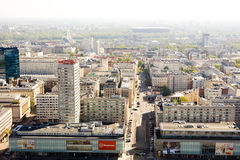 Panorama Warszawa Fotografia Royalty Free