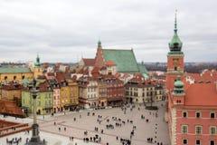 Panorama Warszawa, plandeki przesunięcia skutek fotografia stock