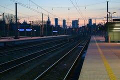 Panorama Warszawa, Polska Zdjęcia Stock