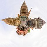 360 Panorama of Wat Phra Chettuphon Wimon Mangkhalaram Ratchaworamahawihan Wat Pho Royalty Free Stock Image