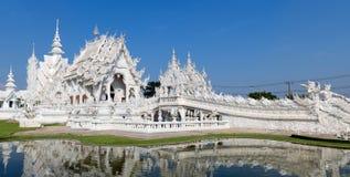 Panorama Wat Rongkun - the white temple in Chiangrai , Thailand Stock Photo