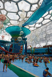 Panorama of water park, summer time Stock Photography