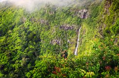 Panorama of waterfall Black River and jungle Stock Photo