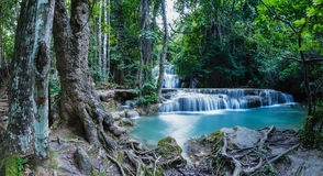 Panorama,Waterfall Huay Mae Kamin Royalty Free Stock Photo