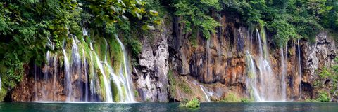 Panorama-Waterfalls Royalty Free Stock Photos