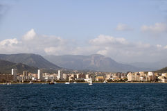 Panorama waterfront ajaccio corsica france Stock Photo