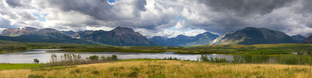 Panorama of the Waterton National Park Royalty Free Stock Images