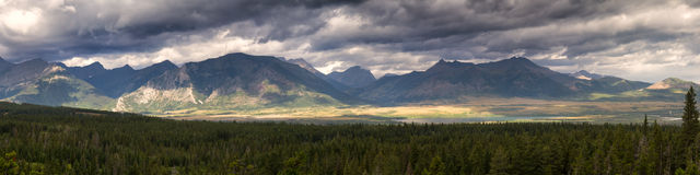 Panorama of the waterton valley Stock Image