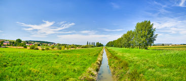 Panorama of waterway Stock Images
