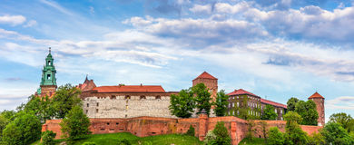 Panorama of Wawel castle in Cracow, Poland Stock Photo