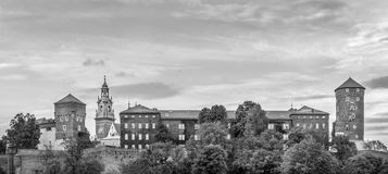 Panorama of Wawel castle in Cracow, Poland Royalty Free Stock Image