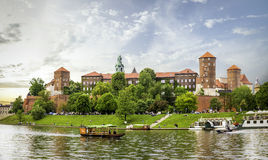 Panorama of Wawel castle in Cracow, Poland Stock Photography