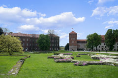 A Panorama of a Wawel castle Krakow Poland Royalty Free Stock Image