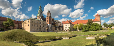 Panorama of Wawel cathedral in Krakow, Poland Royalty Free Stock Image