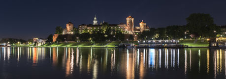 Panorama of Wawel Royal castle in Krakow, Poland Stock Images