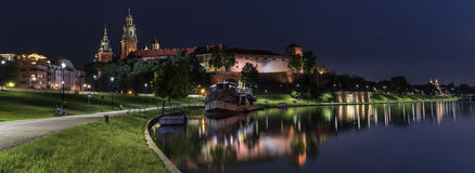 Panorama of Wawel Royal castle in Krakow, Poland Royalty Free Stock Photos
