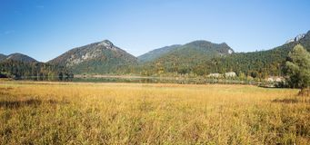 Panorama of the Weitsee Royalty Free Stock Images