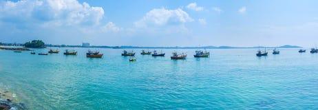 Panorama of Weligama bay Royalty Free Stock Photo