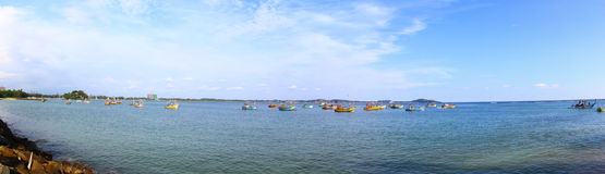 Panorama of Weligama Bay Royalty Free Stock Photo