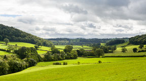 Panorama of welsh countryside Stock Image