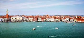 Panorama Wenecja Zdjęcia Royalty Free