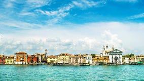 Panorama Wenecja teren Zattere obrazy stock