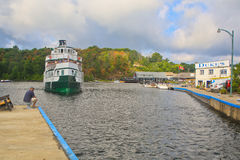 Panorama of the Wenoah 11 Port Carling Royalty Free Stock Photos