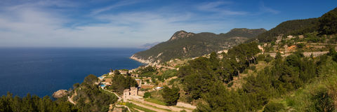Panorama of the west coast of Mallorca Royalty Free Stock Images