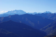 Panorama of Western Alps and Northern Italy Stock Photography