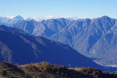 Panorama of Western Alps and Northern Italy Royalty Free Stock Photos