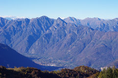 Panorama of Western Alps and Northern Italy Royalty Free Stock Photo