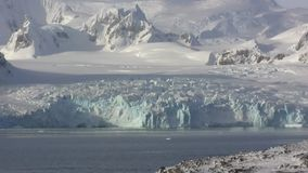 panorama of the western coast of the Antarctic Peninsula in central part stock footage