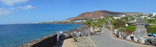 Playa Blanca promenade Stock Images