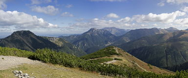 Panorama of Western Tatras Stock Images