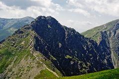 Panorama of Western Tatras Stock Image
