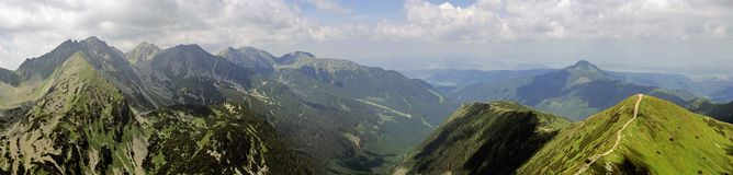 Panorama of Western Tatras Royalty Free Stock Photos