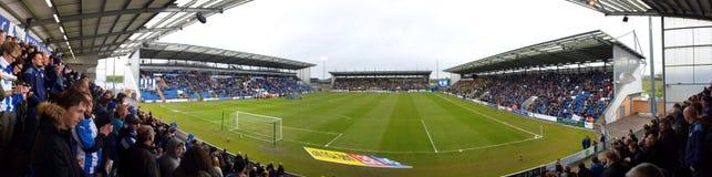 Panorama - Weston Stwarza ognisko domowe społeczności stadium, Colchester Jednoczył FC, Engeland Zdjęcia Stock