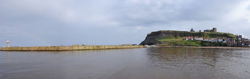 Panorama of whitby Stock Photo