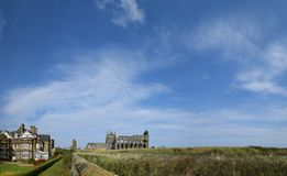 Panorama of Whitby Abbey, Whitby royalty free stock image