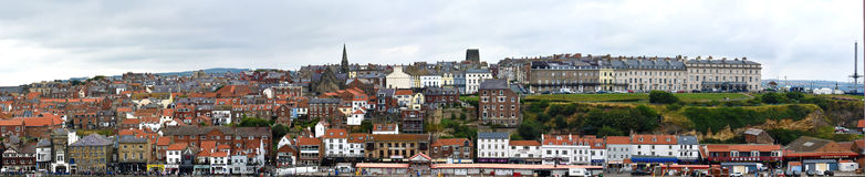 Panorama of Whitby Royalty Free Stock Photography