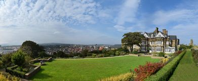 Panorama of Whitby Town and Harbor, Whitby royalty free stock photography