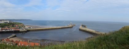 Panorama of Whitby Town, North Yorkshire Royalty Free Stock Image