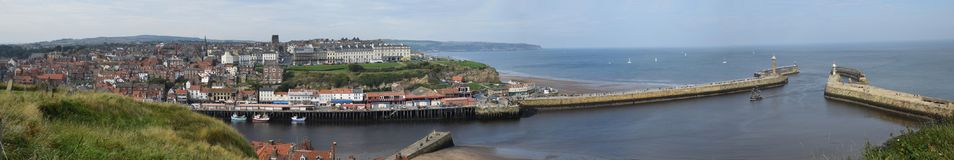 Panorama of Whitby Town, North Yorkshire Stock Photography