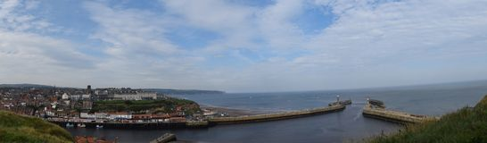 Panorama of Whitby Town, North Yorkshire Stock Image