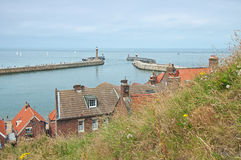 Panorama of Whitby, United Kingdom Stock Image