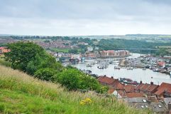 Panorama of Whitby Royalty Free Stock Photos