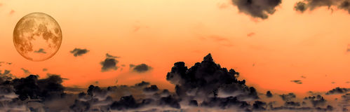 Panorama  of White Cloud blue sky Royalty Free Stock Images