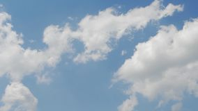 Panorama of white clouds in blue sky. stock video footage